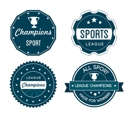 sports seals over white background Vector