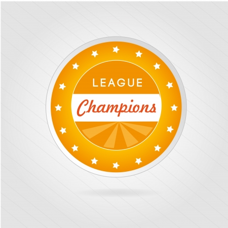 champions league: champions league over gray background  Illustration