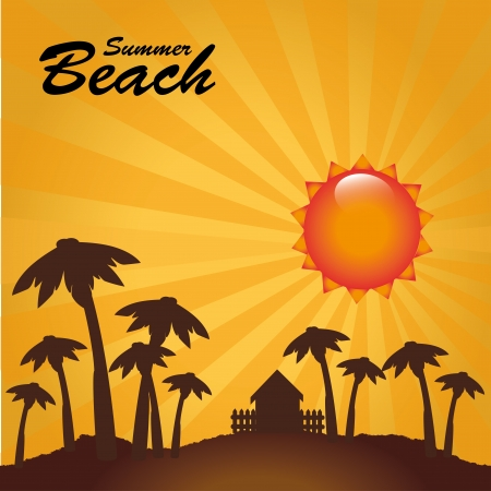 summer design over landscape background  Vector