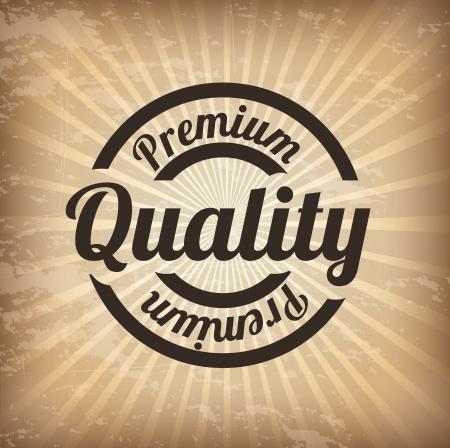 selected: premium quality design over grunge background  Illustration