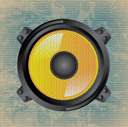 speakers design over vintage background  Vector