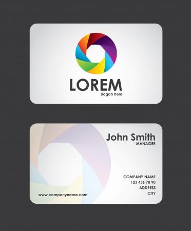 tarjeta de presentacion: tarjeta de presentaci�n sobre fondo negro