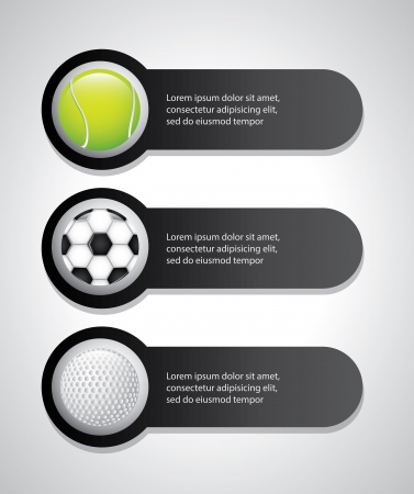 sports labels over gray background  Vector