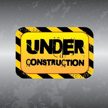 under construction label over gray background  Stock Vector - 20756540