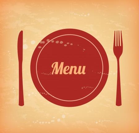 menu brochure over vintage  background  Vector