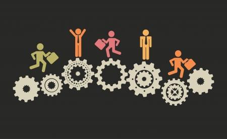 human resources: jobs design over black background