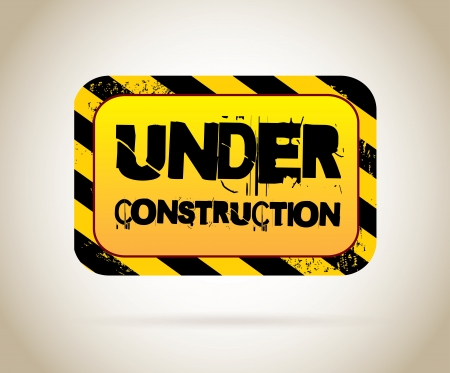 under construction label over beige background Stock Vector - 20756554