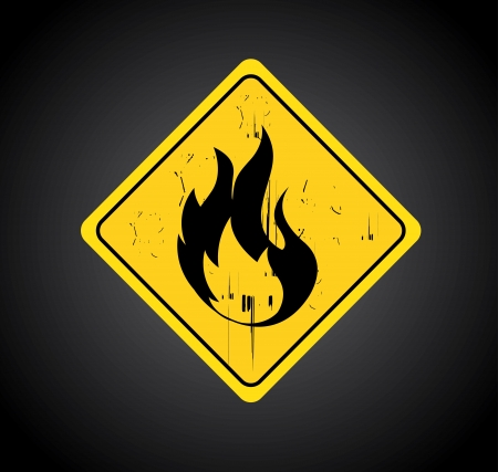 fire signal over black background  Stock Vector - 20756561