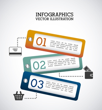 infographics labels over gray background  Vector