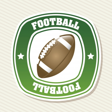 football label over white background  Vector