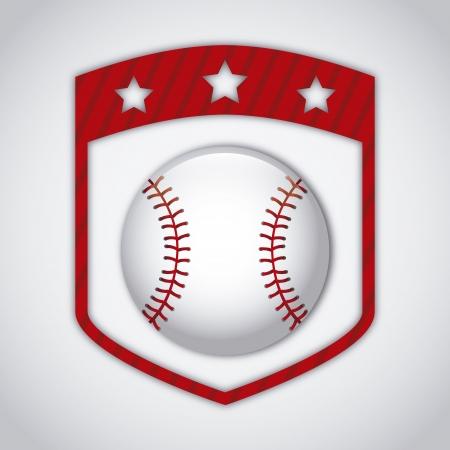 joint de base-ball sur fond gris