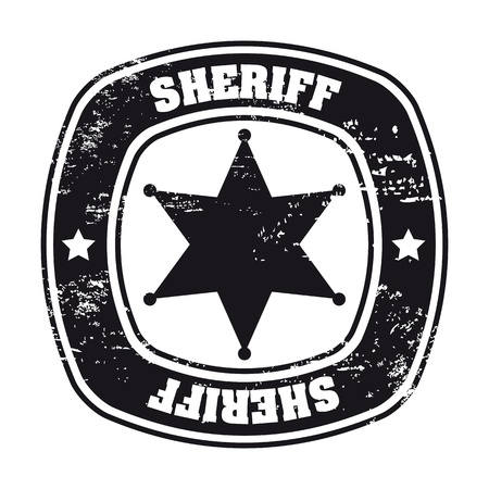 sheriff seal over white background