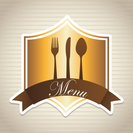 menu design over lineal background Stock Vector - 20756748