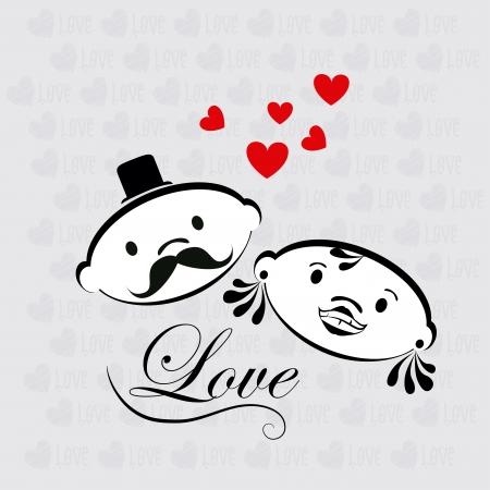 love design over gray background