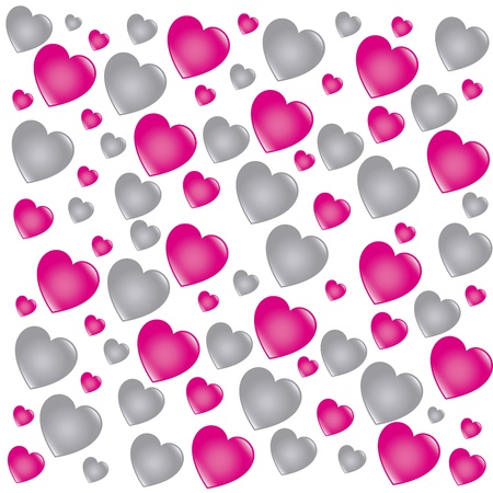 hearts skin over white background  Vector