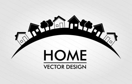 行の背景のイラストの家の設計  イラスト・ベクター素材