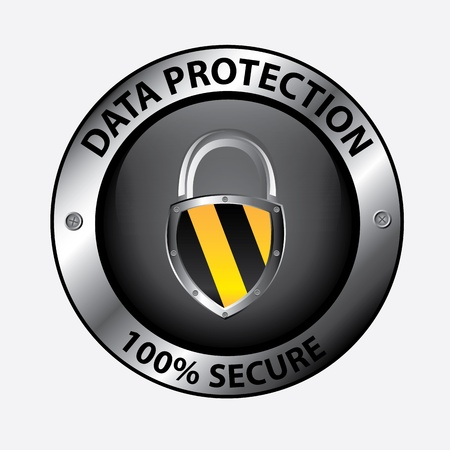 dir: data protection design over white background