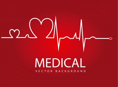 medical design over red background  Vector