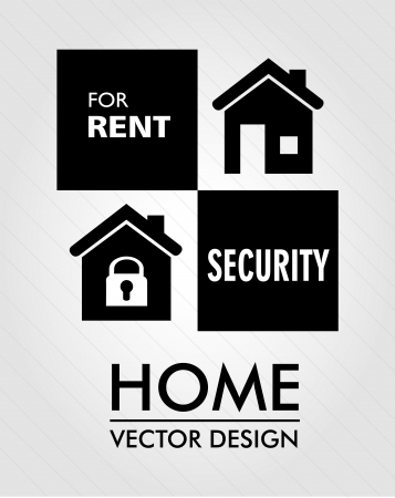 home label over gray background  Vector