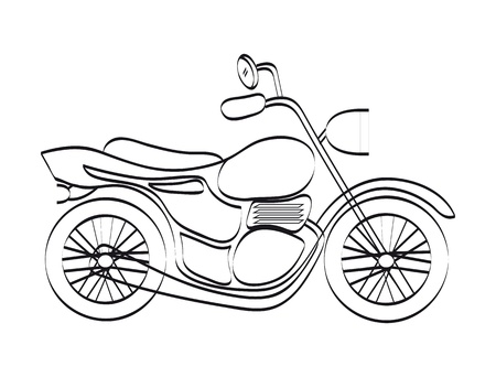 motorcycle design over white background  Vector