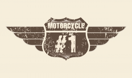 motorcycle emblem over pink background Stock Vector - 20961188