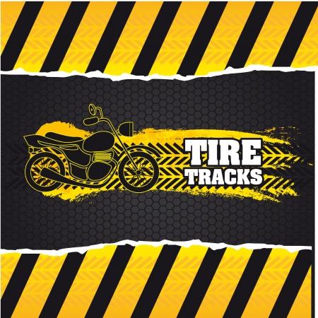 cruising: tracce di pneumatici su sfondo marrone