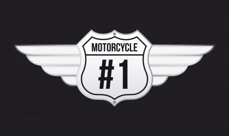 motorcycle emblem over black background  Stock Vector - 20961212