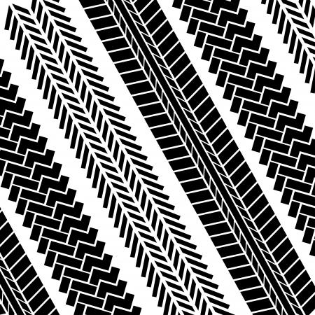 tire tracks over white background Stock Vector - 20961241