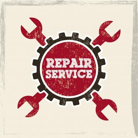 rectify: Servizio di riparazione su sfondo bianco