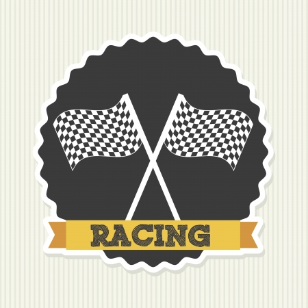 racing seal over lineal background  Stock Vector - 20961258
