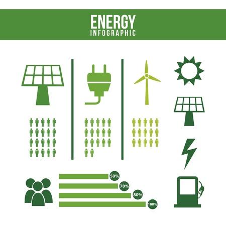 conection: Infograf�a de energ�a sobre el fondo blanco