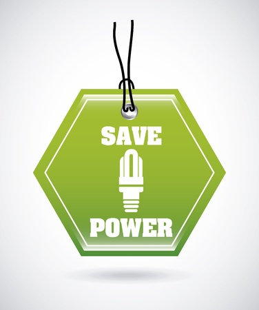 save power signal over gray background  Vector
