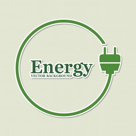 conection: dise�o de la energ�a sobre fondo verde Vectores
