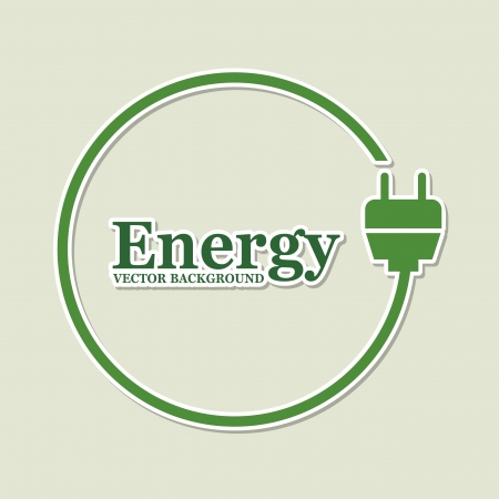 conection: energy design over green background