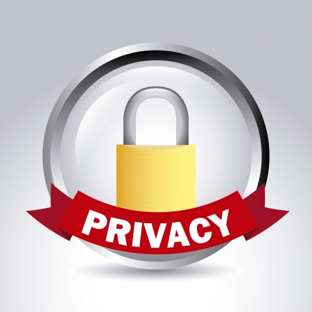 dir: privacy label over gray background vector illustration