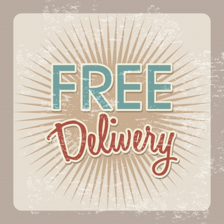 free delivery over vintage background vector illustration   Vector