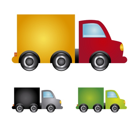 fleet: trucks design over white background vector illustration  Illustration