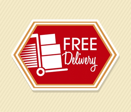 free delivery over lineal background vector illustration Vector