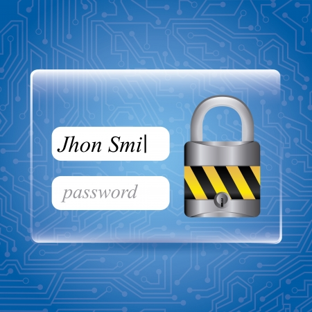 dir: security design over blue background vector illustration