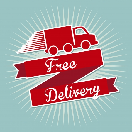 free delivery over blue background vector illustration  Vector