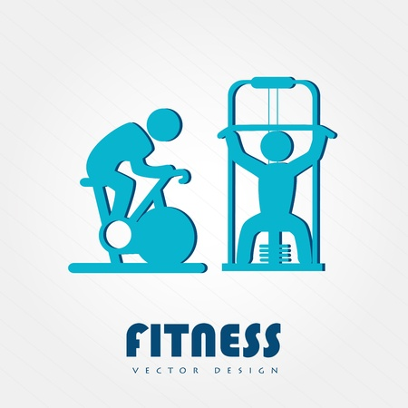 static bike: fitness design over white background vector illustration