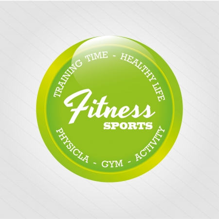 fitness sports over gray background illustration  Vector