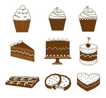 savory: dessert icons over white background vector illustration