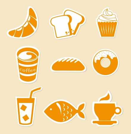 food icons over pink background vector illustration  Vector