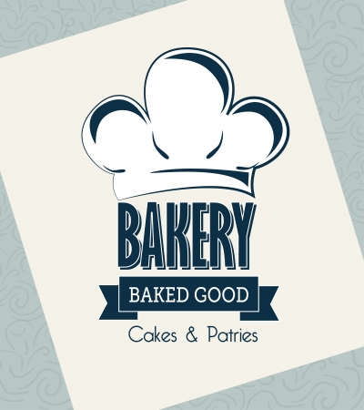 bakery products: bakery label over white background vector illustration