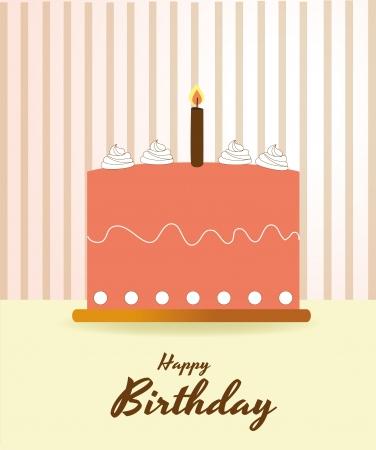 happy birthday over vintage background illustration  Vector
