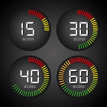 timer design over black background illustration  Vector