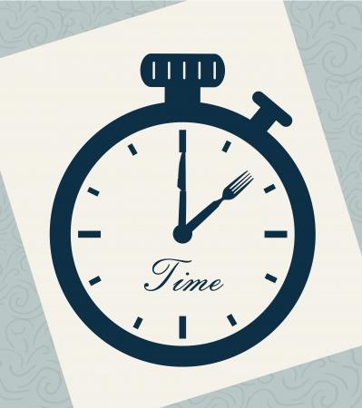 second hand: time drawing over leaf notebook background illustration  Illustration