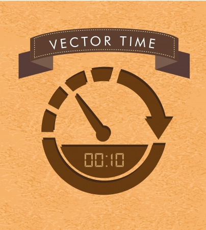 time label over vintage background illustration Vector