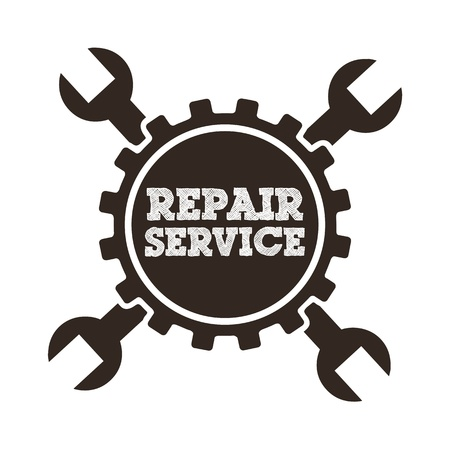 repair service over white background  Stock Vector - 21030153